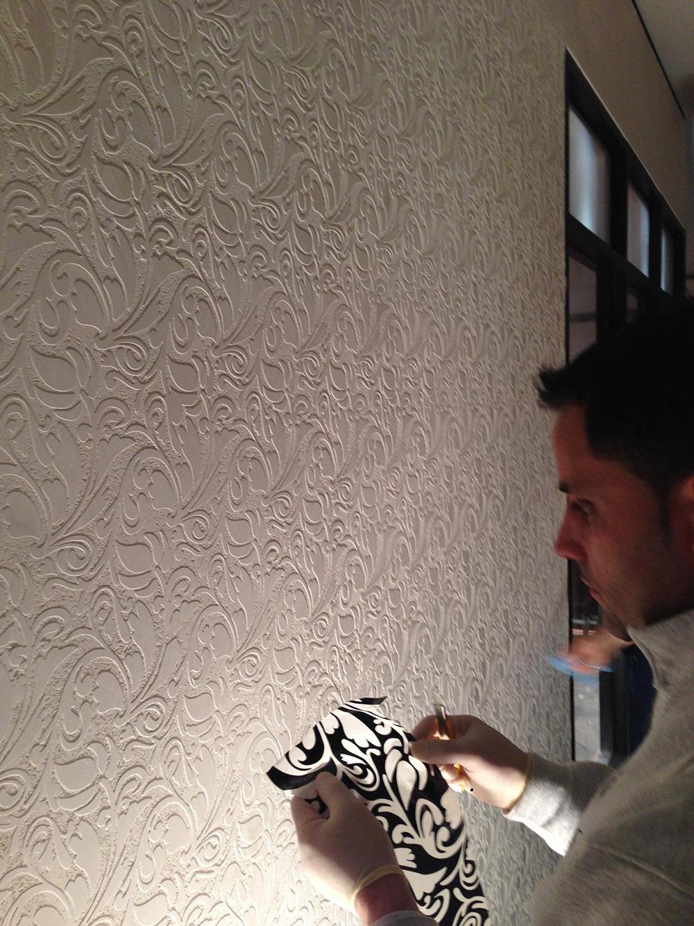 Venetian Plaster Stenciling